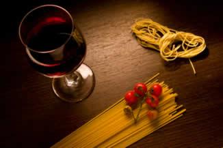 Kochen und Wein